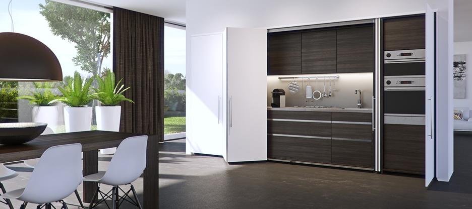 Ferrements pour portes pivotantes-coulissantes HAWA-Folding Concepta 25
