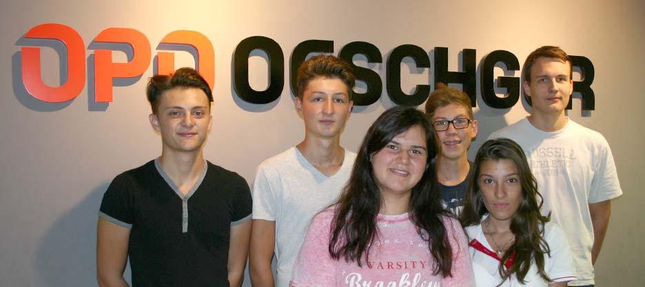 Les personnes en formation chez OPO Oeschger SA