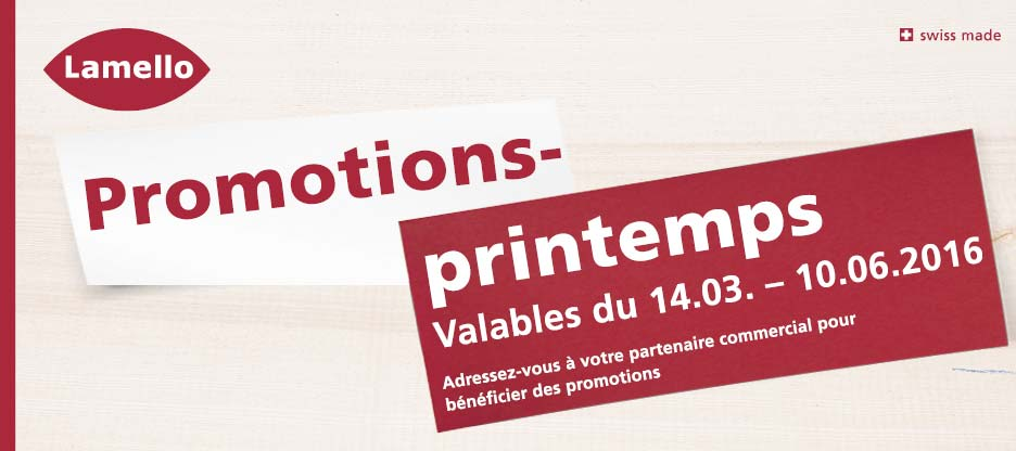 Promotions printemps LAMELLO