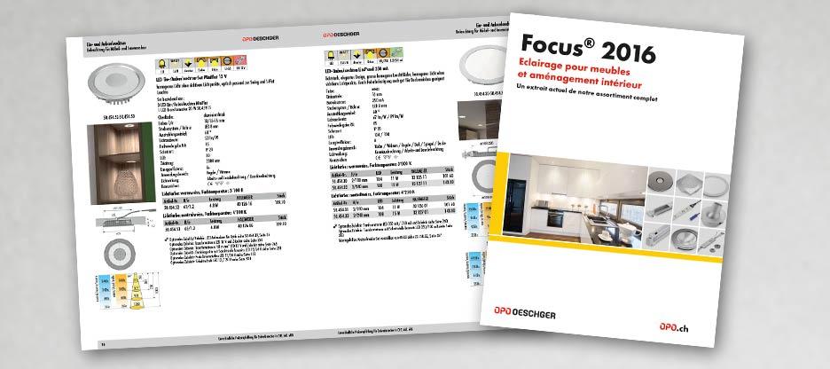 Le nouveau Focus® 2016 « Eclairage pour meubles et aménagement intérieur » est arrivé !