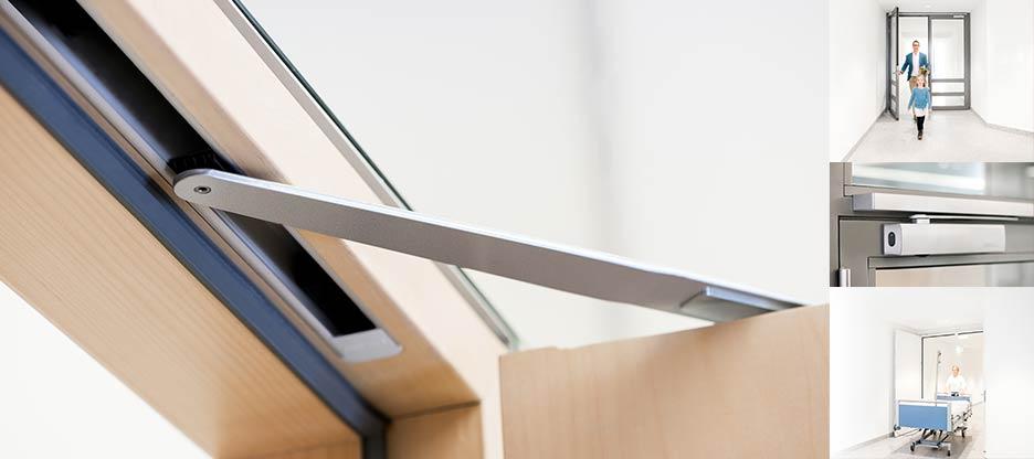 Nouveau programme de ferme-portes à glissière avec fonction « bras débrayé » équipés d'une fonction de blocage de confort
