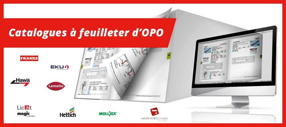 Catalogues à feuilleter d'OPO – Le complément idéal à la représentation des produits  dans le shop de e-commerce.