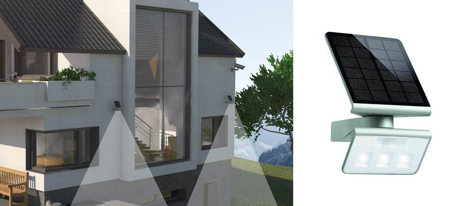 Effet dissuasif – spot solaire à LED Xsolar L-S