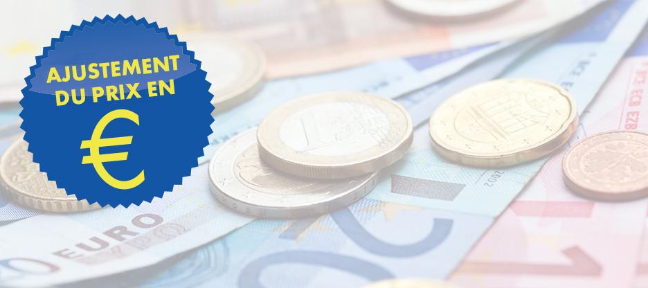 Modifications de prix des produits en € au 14 décembre 2017