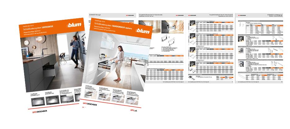 Trouver et commander rapidement avec guides Quickfinder LEGRABOX et TANDEMBOX antaro de BLUM