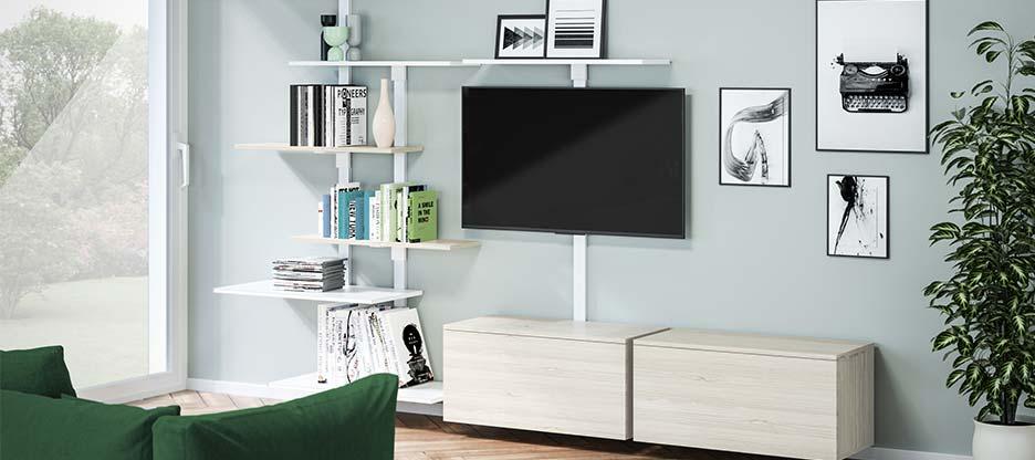 Des possibilités illimitées avec le système d'étagères Pecasa – Smart Furniture by peka
