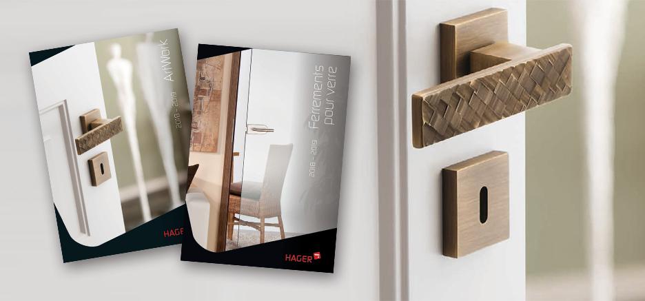 Ferrements pour portes en verre de HAGER et ArtWork : plus de 400 nouveaux articles disponibles
