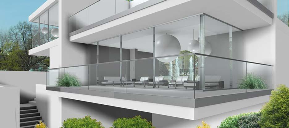Transparence et légèreté avec les garde-corps tout en verre de Pauli + Sohn