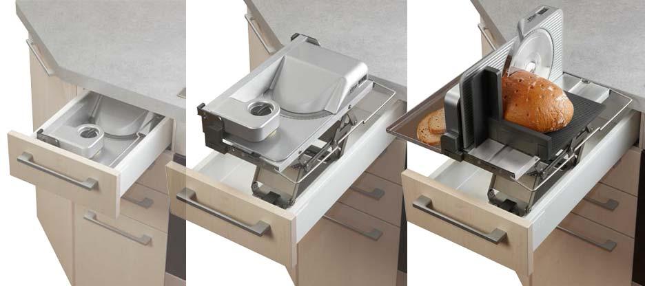 Cacher et présenter : des gadgets et des fonctions déterminent la cuisine au design modern