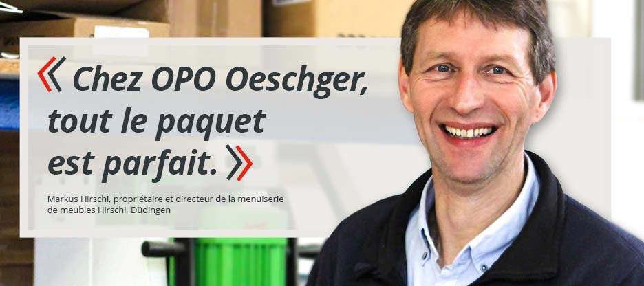 Parole aux clients d'OPO – menuiserie de meubles Hirschi
