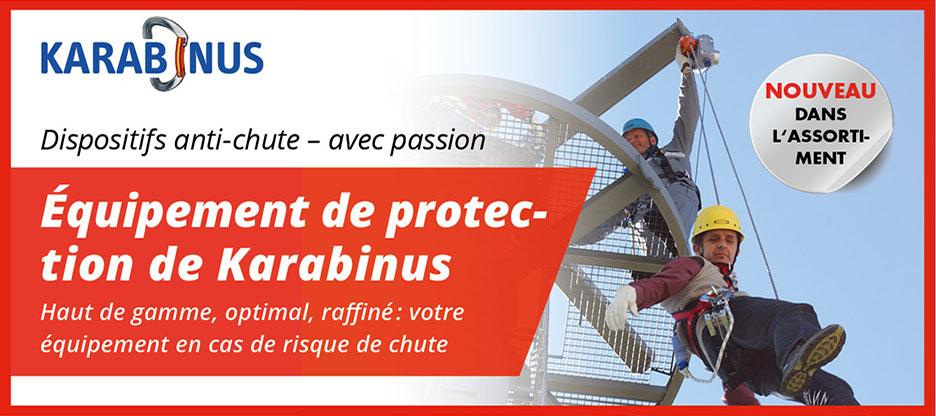 Karabinus: une passion pour la protection contre la chute