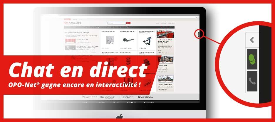 Nouveautés OPO-Net® – Live Chat