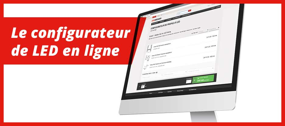 Configurateur de LED en ligne avec 6 nouveaux profils et 4 nouvelles bandes de LED