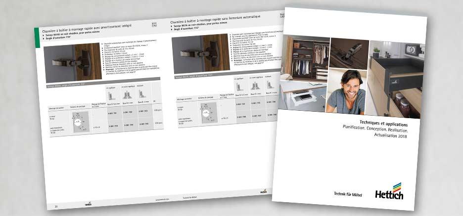 HETTICH Techniques et applications – Actualisation 2018 comme catalogue à feuilleter