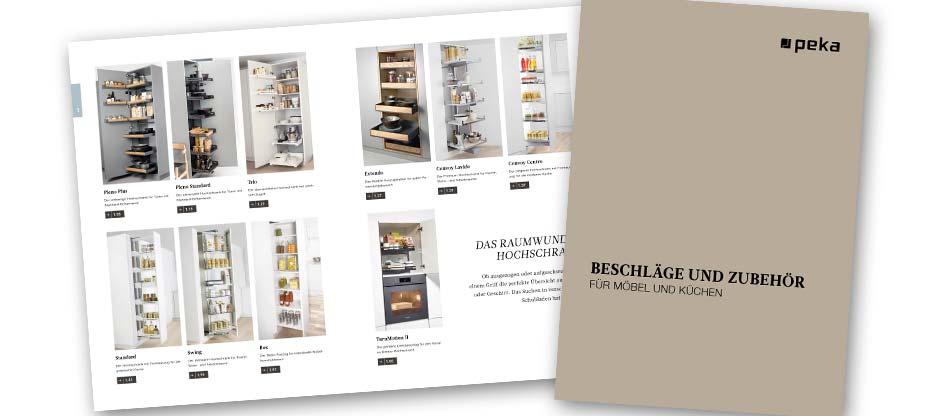 L'aménagement de la cuisine sous sa plus belle forme: le nouveau catalogue complet 2019 de PEKA