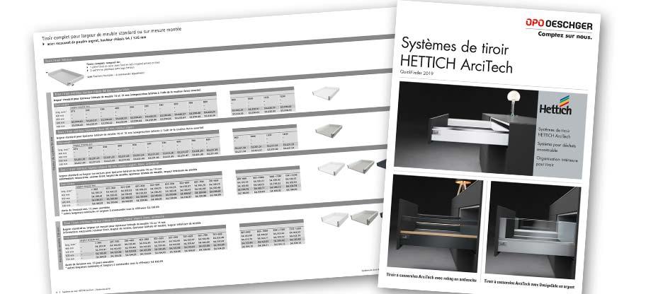 Système de tiroirs HETTICH ArciTech : le nouveau Quickfinder est là