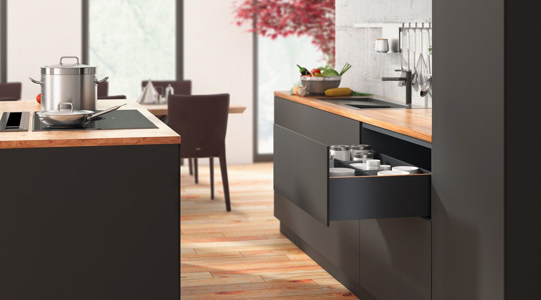 La solution pour des tiroirs sur mesure: HETTICH AvanTech YOU