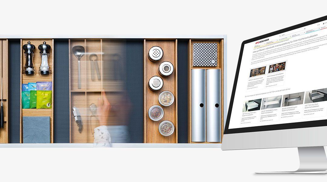 Configurateur MOVE désormais complété avec systèmes de tiroirs
